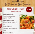 business lunch menù Insalate taverna del ghetto
