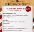 business lunch menù Orientale taverna del ghetto