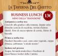 Business lunch menù Tradizione taverna del ghetto