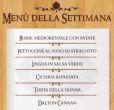 Menu Della Settimana 5-11 agosto taverna del ghetto
