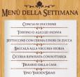 Menu Settimana dal 4 al 10 novembre taverna del ghetto